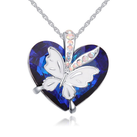 Imagen de Love Butterfly Crystal Necklace