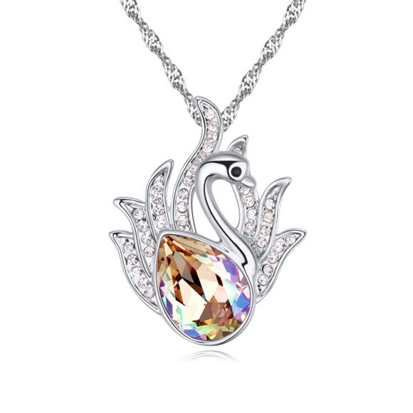 Picture of Swan Princess Swarovski Elements Crystal Necklace