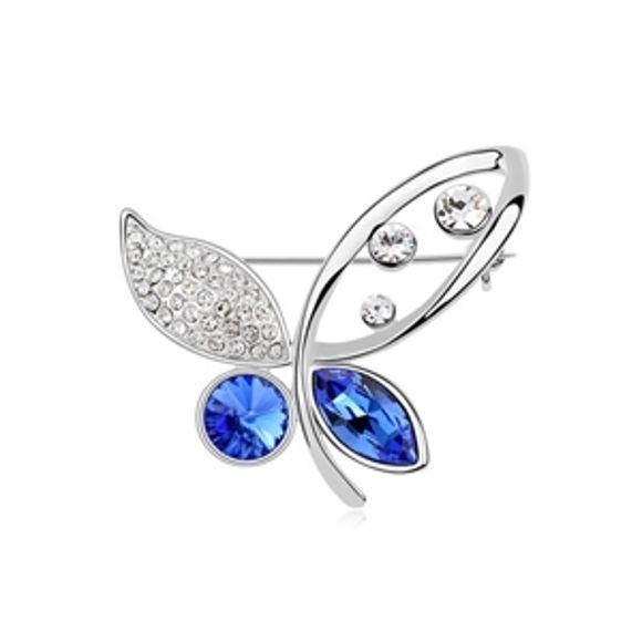 Imagen de Beauty Butterfly Swarovski Elements Crystal Brooch