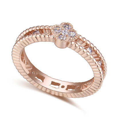 Imagen de Simple Love Micro-inlaid Zircon Ring