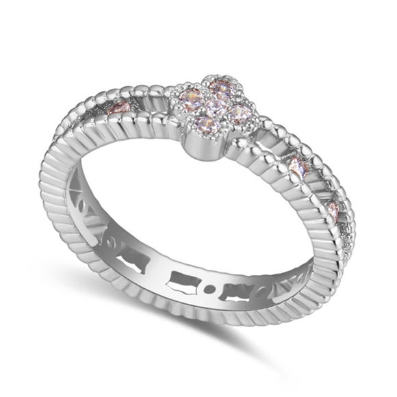 Picture of Simple Love Micro-inlaid Zircon Ring