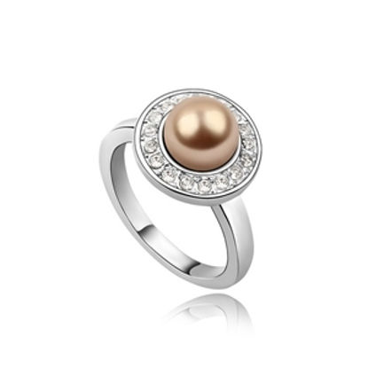 Imagen de Playful Princess Swarovski Elements Pearl Ring