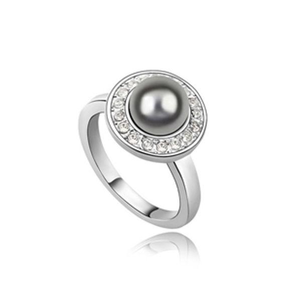 Image de Playful Princess Swarovski Elements Pearl Ring