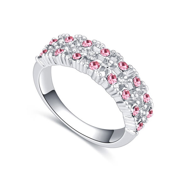 Picture of Bit by Bit Crystal Mosaic Ring