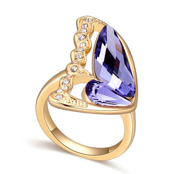 Bild von Butterfly Crystal Mosaic Ring