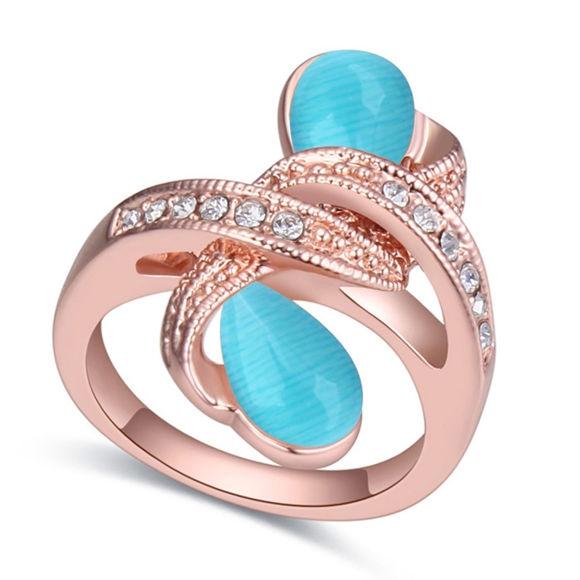 Immagine di Winding Crystal Mosaic Ring