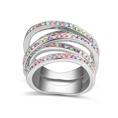 Image de Interwined Crystal Mosaic Ring