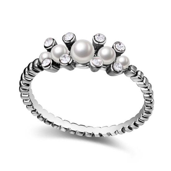 Imagen de Flower in Dream  Crystal Mosaic Pearl Ring