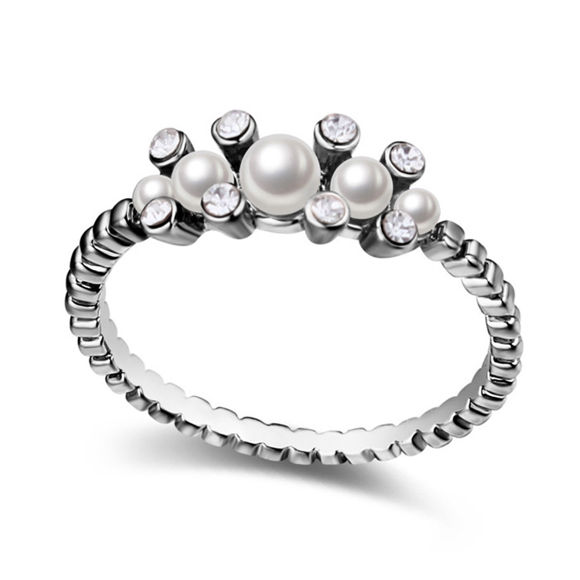 Imagen de Flower in Dream  Crystal Mosaic Pearl Ring