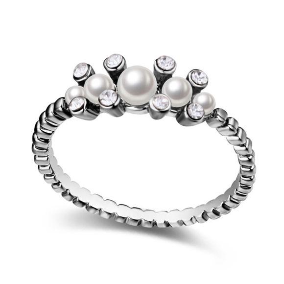 Bild von Flower in Dream  Crystal Mosaic Pearl Ring