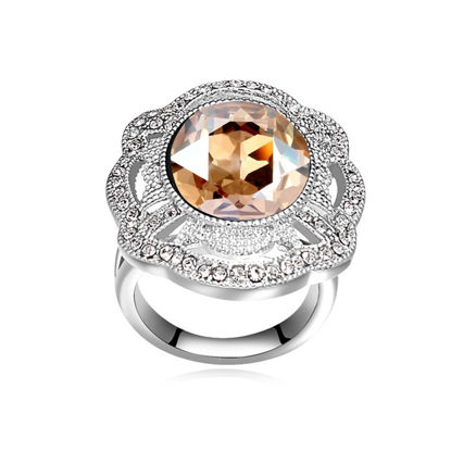 Image de Big Flower  Crystal Mosaic Ring