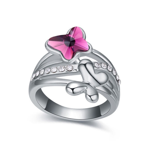 Immagine di Double Butterfly Crystal Mosaic Ring