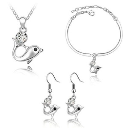 Picture of Dolphin Swarovski Elements Crystal Package(Earrings & Necklace & Bracelet)