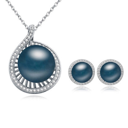 Immagine di Fantasia Micro-Zircon Pearls Package(Earrings & Necklace)