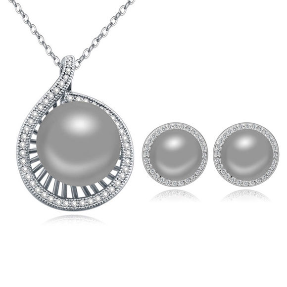 Picture of Fantasia Micro-Zircon Pearls Package(Earrings & Necklace)