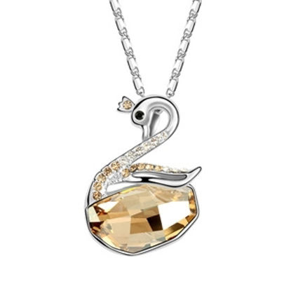 Imagen de Swan Wishes Swarovski Elements Crystal Necklace
