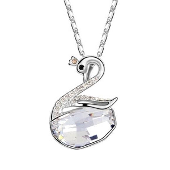 Imagen de Swan Wishes Swarovski Elements Crystal Necklace