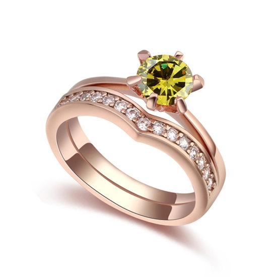 Imagen de Sweet Companions Micro zircon Lovers Rings