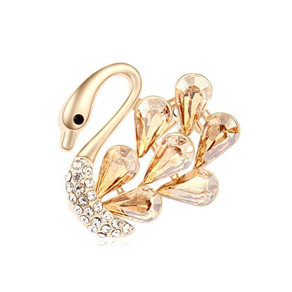 Image de Gold Swan Crystal Brooch