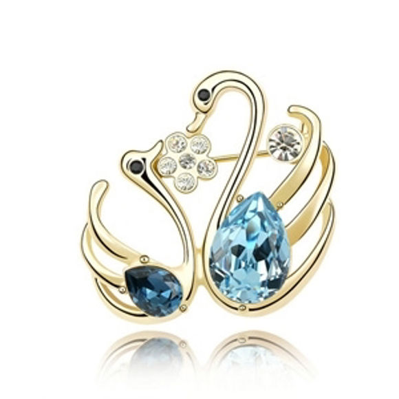 Immagine di Love of Swans Crystal Brooch