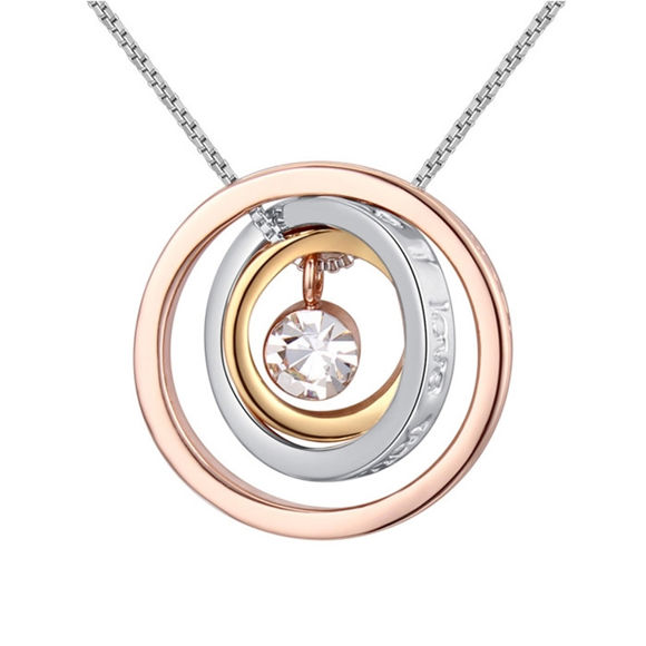 Immagine di Lucky Circles Crystal Necklace