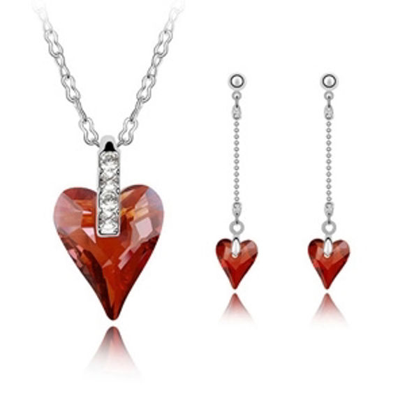 Bild von As Wishes Crystal Package(Necklace & Earrings)