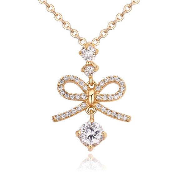Imagen de Bow Tie Pendant Zircon Necklace