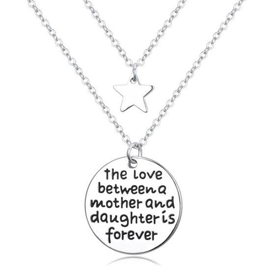 Imagen de Love Story Lettering Tag Double Necklace