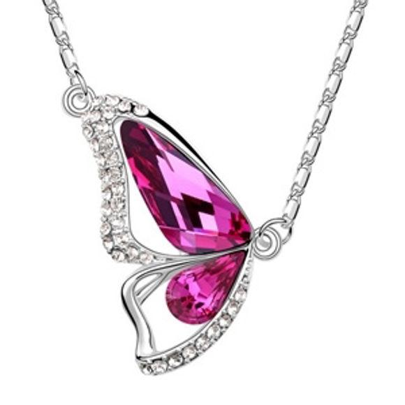 Imagen de Butterfly Princess Swarovski Elements Crystal Necklace