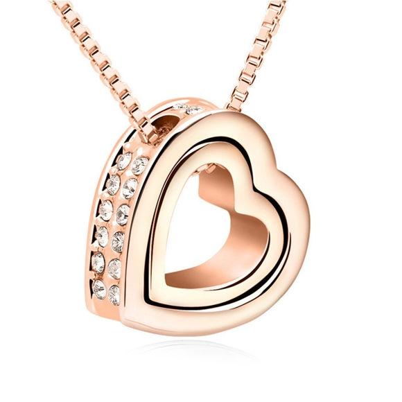 Imagen de Heart In Heart Crystal Necklace