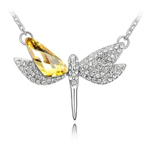 Picture of Dragonfly Swarovski Elements Crystal Necklace