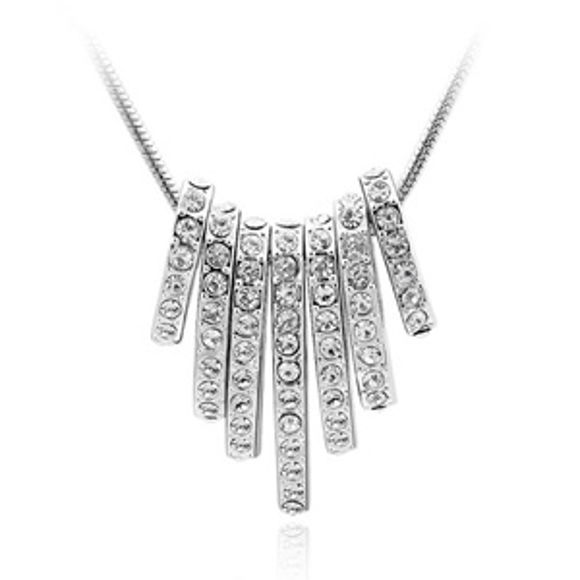 Picture of Seven Pendants Crystal Necklace