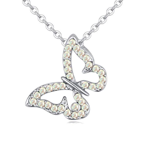 Imagen de Butterfly Pendant Crystal Necklace