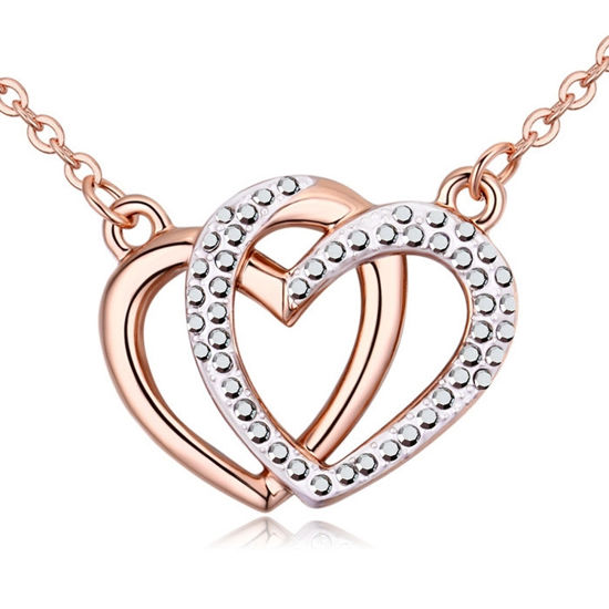 Imagen de Heart to Heart Crystal Necklace