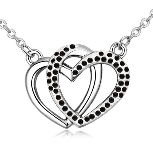 Picture of Heart to Heart Crystal Necklace