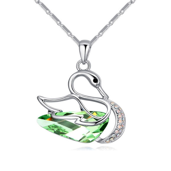 Picture of Fantasy Swan  Crystal Necklace