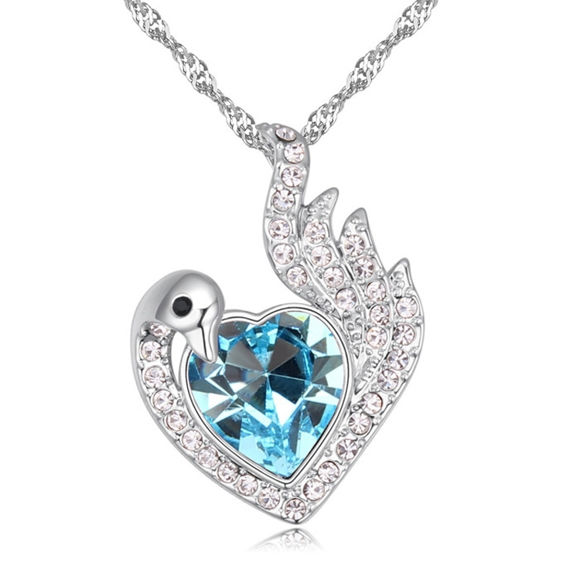 Picture of Phoenix Heart Crystal Necklace