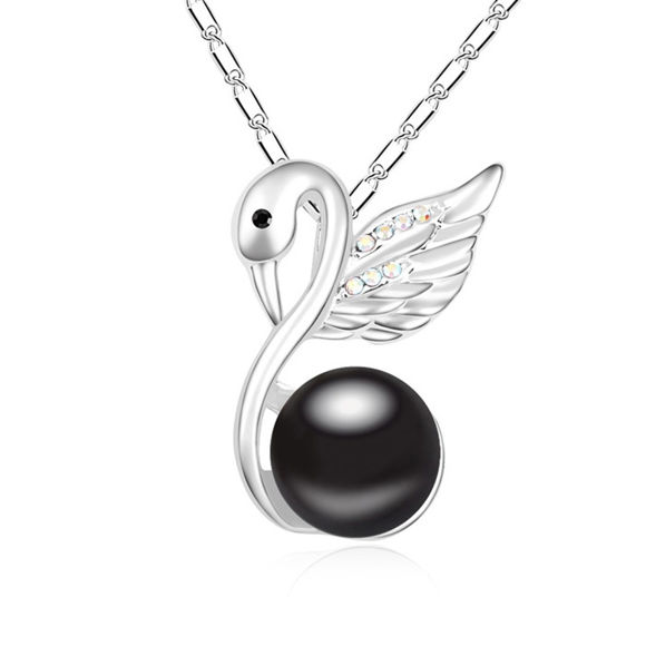 Picture of Contemplative Swan Pearl Necklace