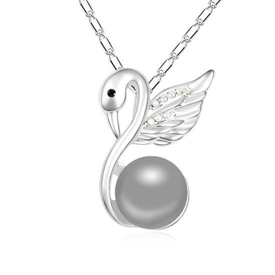 Imagen de Contemplative Swan Pearl Necklace