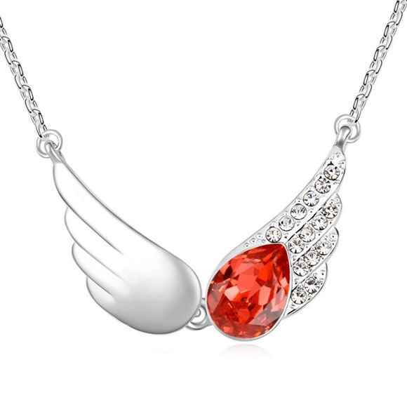 Picture of Angel Wings Crystal Necklace