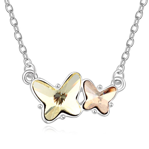 Picture of Double Butterfly  Crystal Necklace