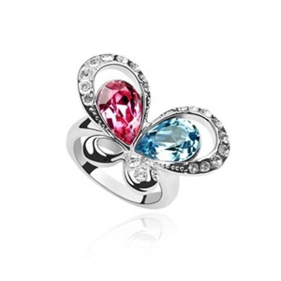 Imagen de Beauty Butterfly Crystal Mosaic Ring