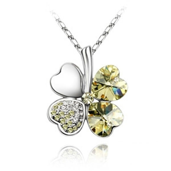 Immagine di Lucky Leaves Swarovski Elements Crystal Necklace