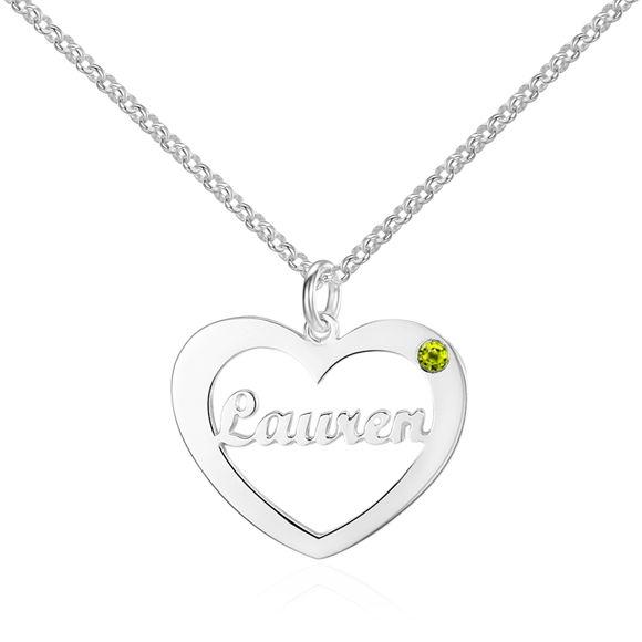 Imagen de Collar de plata de ley 925 con nombre personalizado