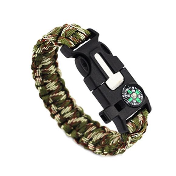 Image de EK Outdoor Survival Compass 5-in-One Escape Bracelet