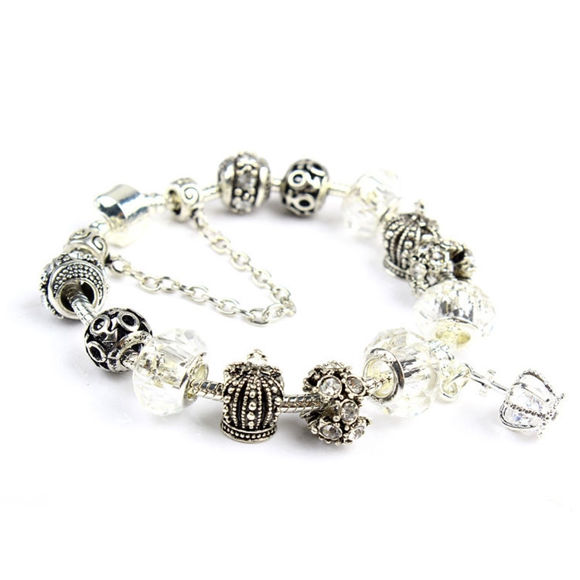 Picture of Retro Crystal Crown Beaded Bracelet