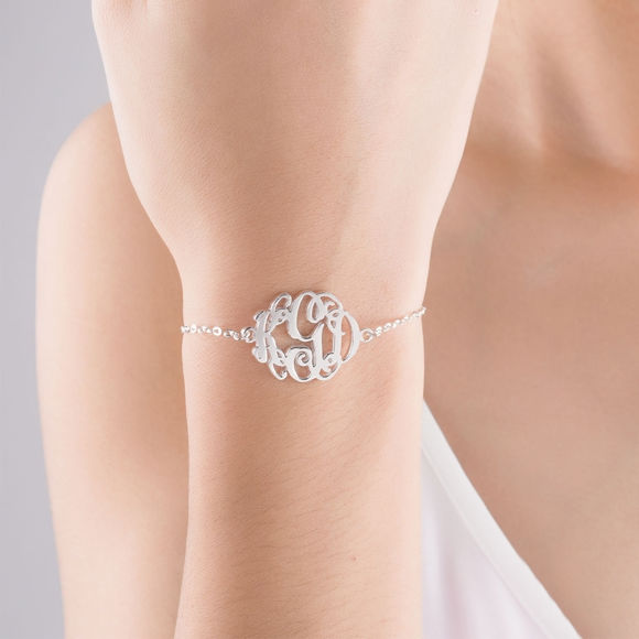 Picture of 925 Sterling Silver Bracelet - Customize with Your Initials