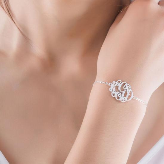 Imagen de Monogrammed 3-Initial Necklace & Bracelet Collection Set