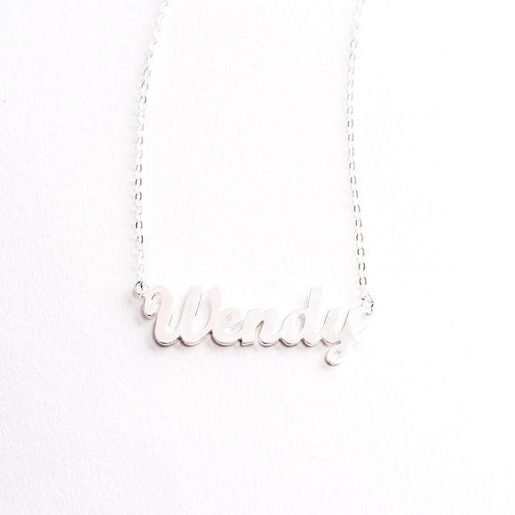 Picture of 925 Sterling Silver Personalized Name Necklace - Customize It With Any Name