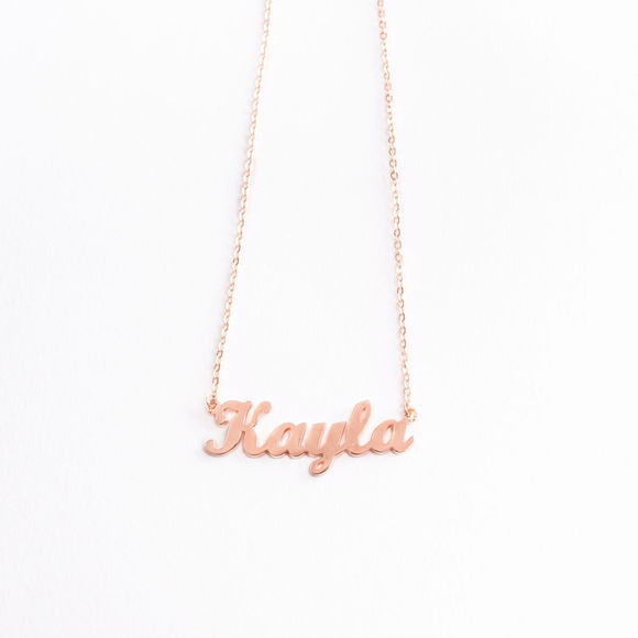 Image de 925 Sterling Silver Personalized Name Necklace - Customize It With Any Name